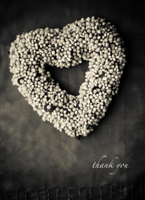 Heart thanks blog
