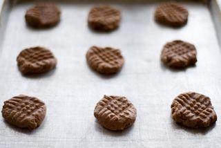 Nutella cookies on sheet