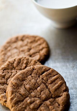 Nutella cookies milk