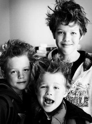 Crazy hair boys